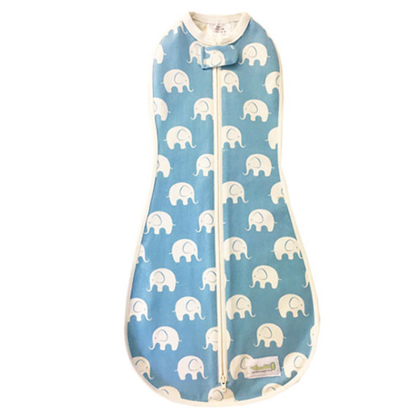 Woombie Original Woombie Big Baby - Blue Splash Elephant 14-19 lbs-1