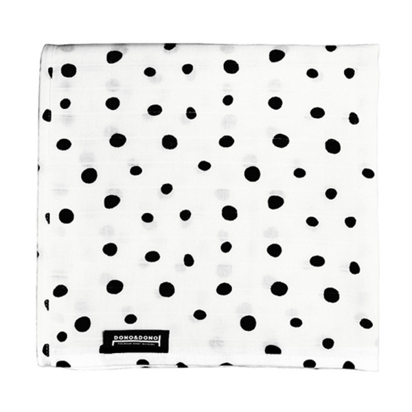 Innobaby Dono&Dono Light Muslin Cuddle Blanket - Black Etoile