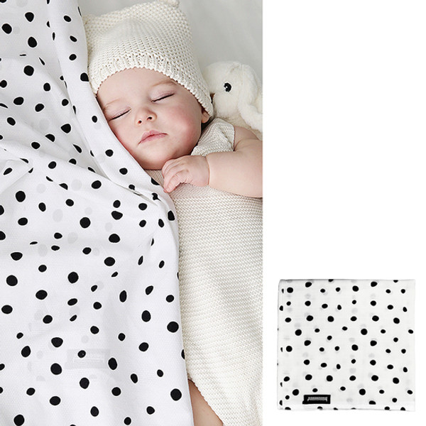 Innobaby Dono&Dono Light Muslin Cuddle Blanket - Black Etoile-3