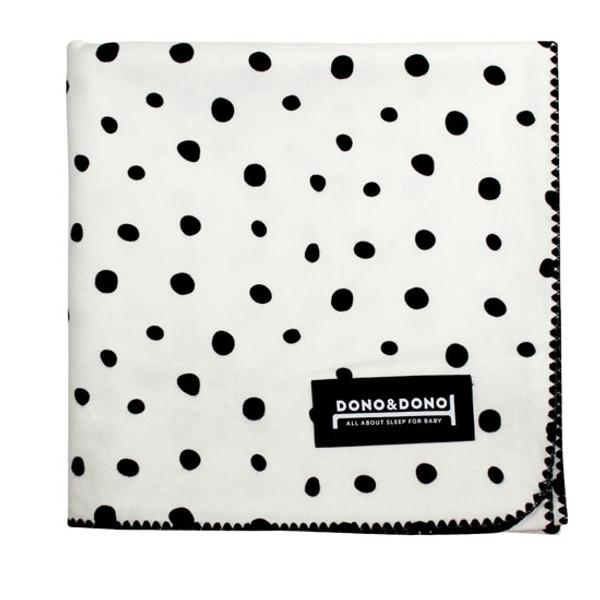 Innobaby Dono&Dono Multi-Purpose Cotton Cuddle Blanket - Black Etoile-1