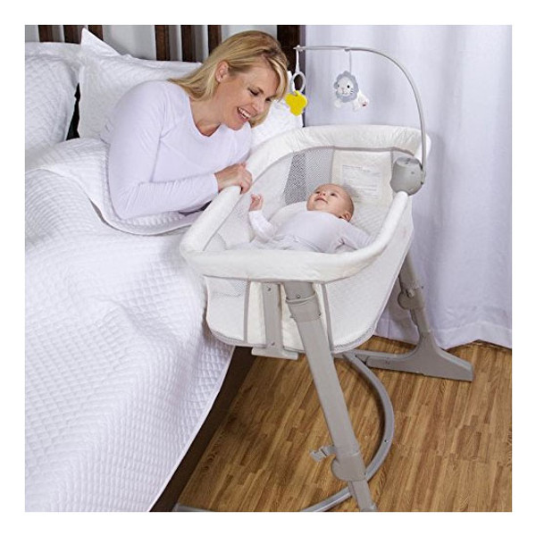 Arm's Reach Versatile Co-Sleeper Bassinet - Ivory/Grey Lifestyle