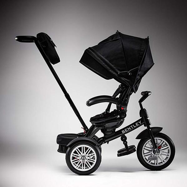 Bentley 6 In 1 Baby Stroller Kids Tricycle Onyx Black Trike