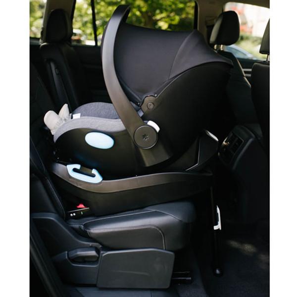 Clek Liing Infant Car Seat -  Slate base is backfacing