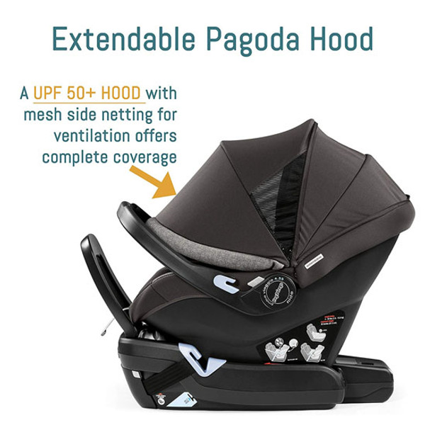 Peg Perego Primo Viaggio 4-35 Nido Infant Car Seat - Agio Grey with Extendable Hood