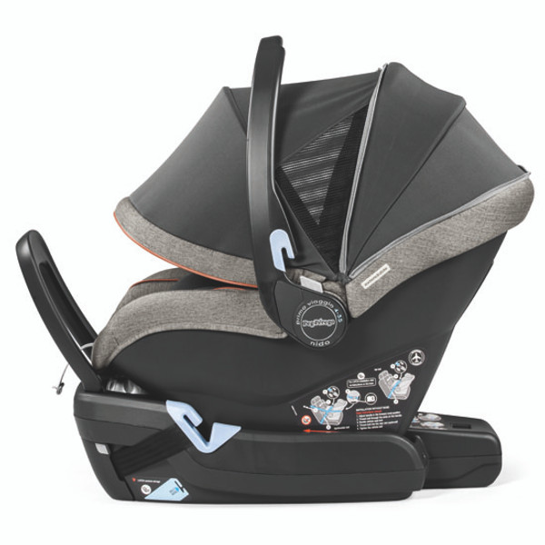 Peg Perego Primo Viaggio 4-35 Nido Infant Car Seat - Agio Grey Side View