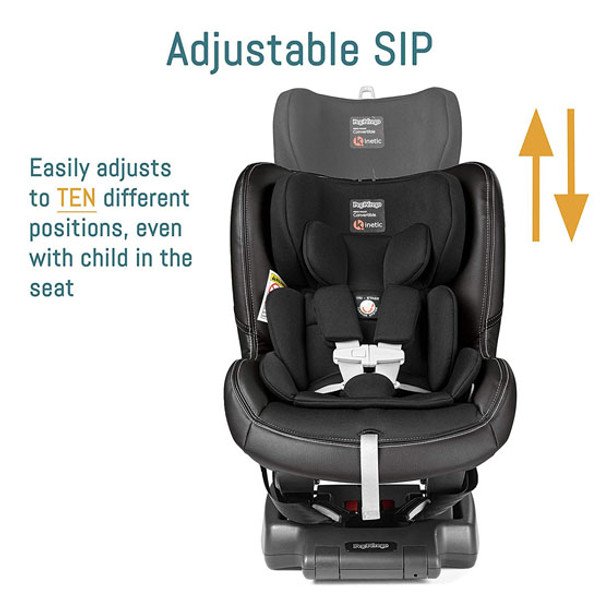 Peg Perego Primo Viaggio Kinetic Convertible - Licorice Adjustable SIP