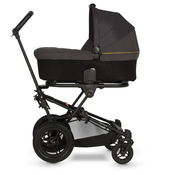 Micralite SmartFold Stroller - Carbon with bassinet