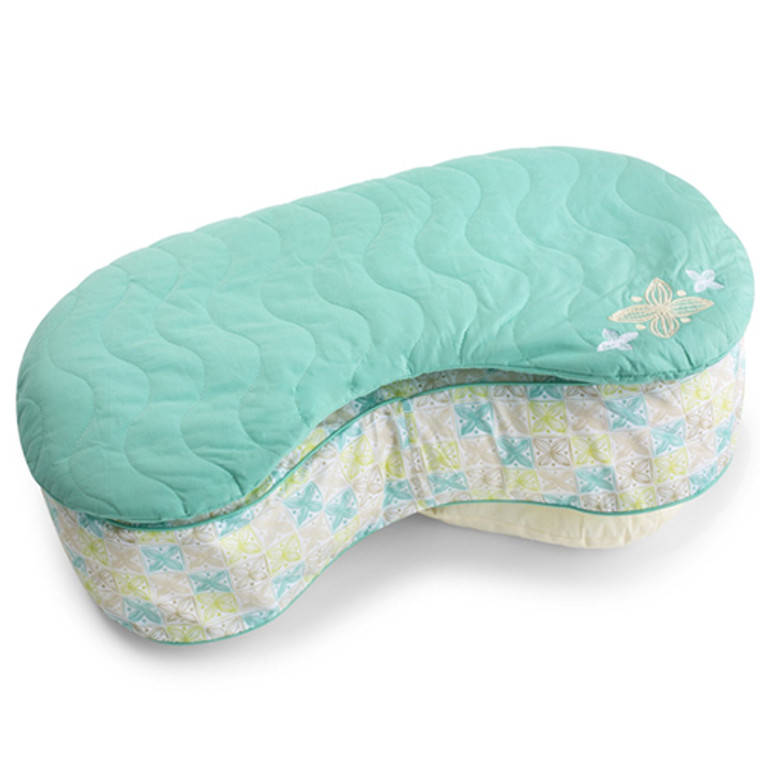 Born Free Bliss Feeding Pillow Quilted Slip Cover - Sketchy Leaf