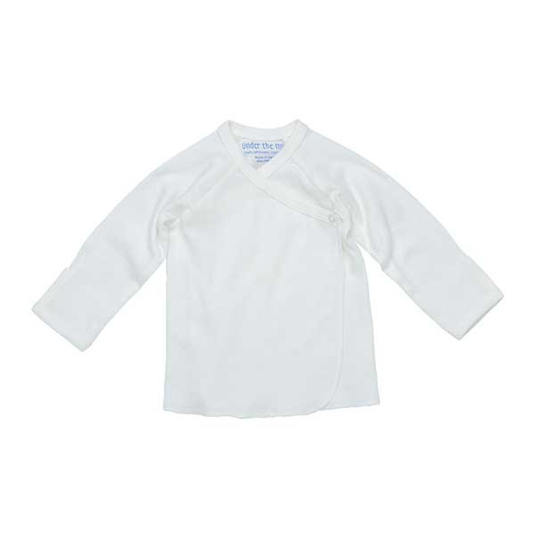 Under The Nile Long Sleeve Side Snap T-Shirt - Off White-1
