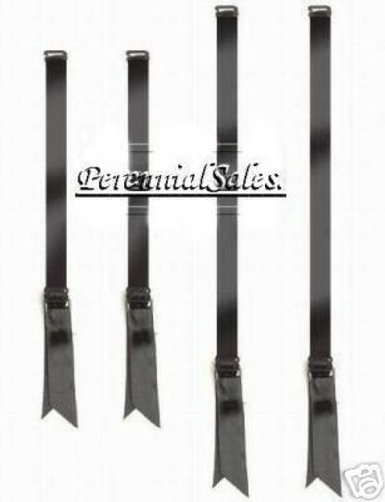 Metal Adjustable Stocking Garters - BLACK