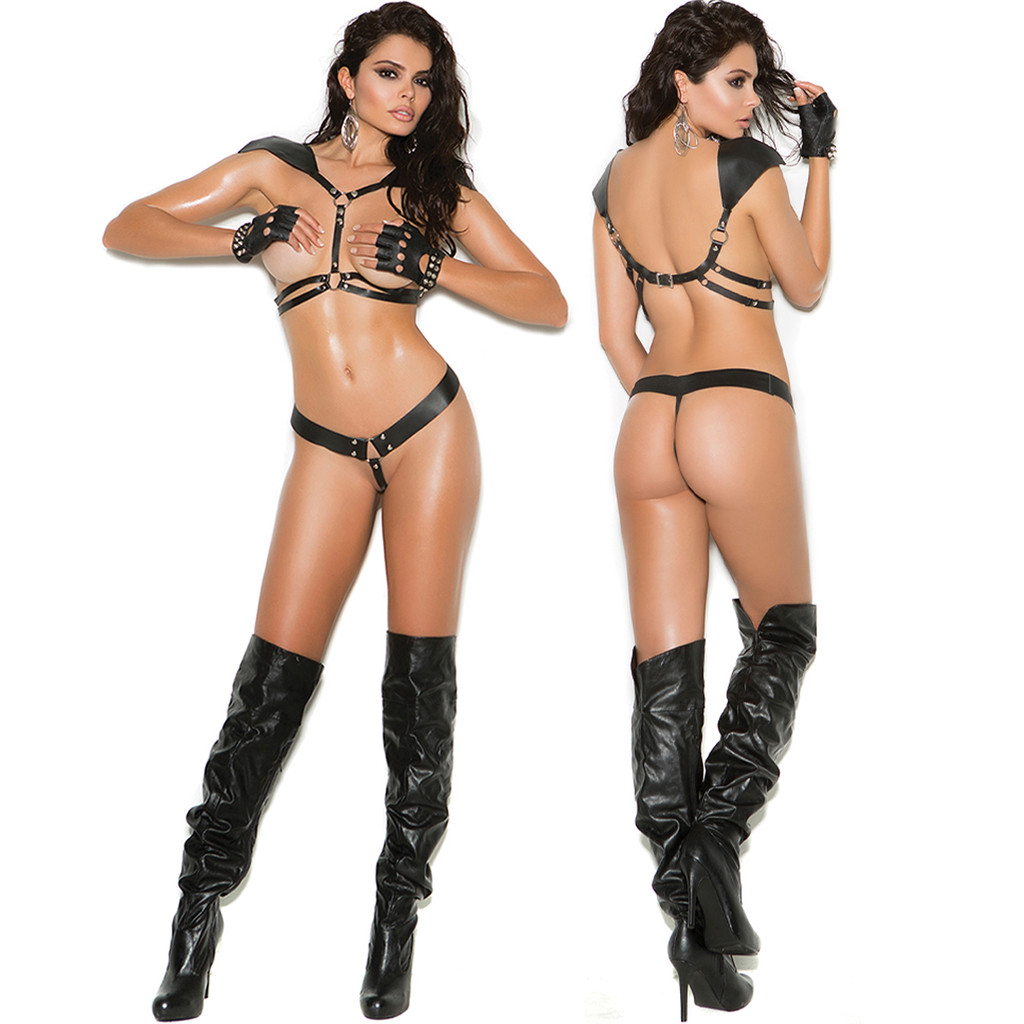 Leather Harness & G-String - Front & Back