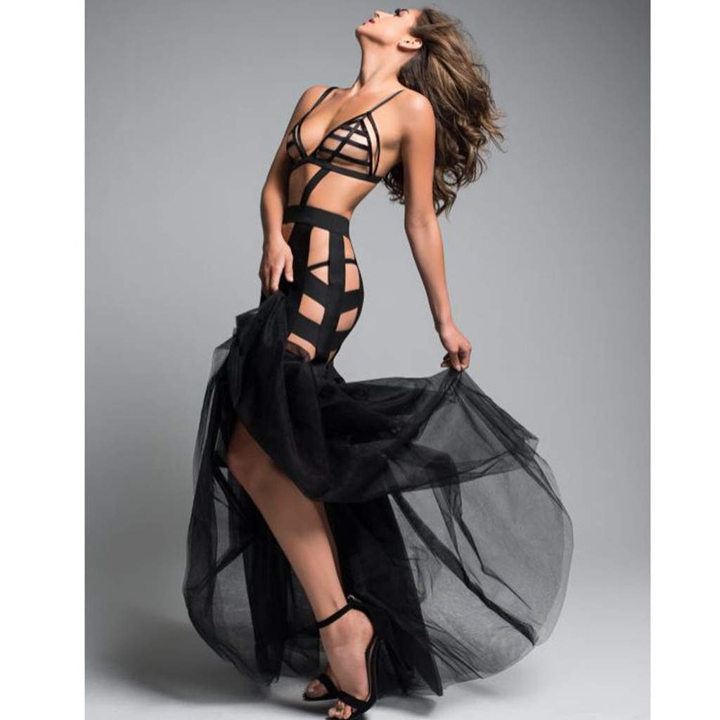Dress w Tulle Tail