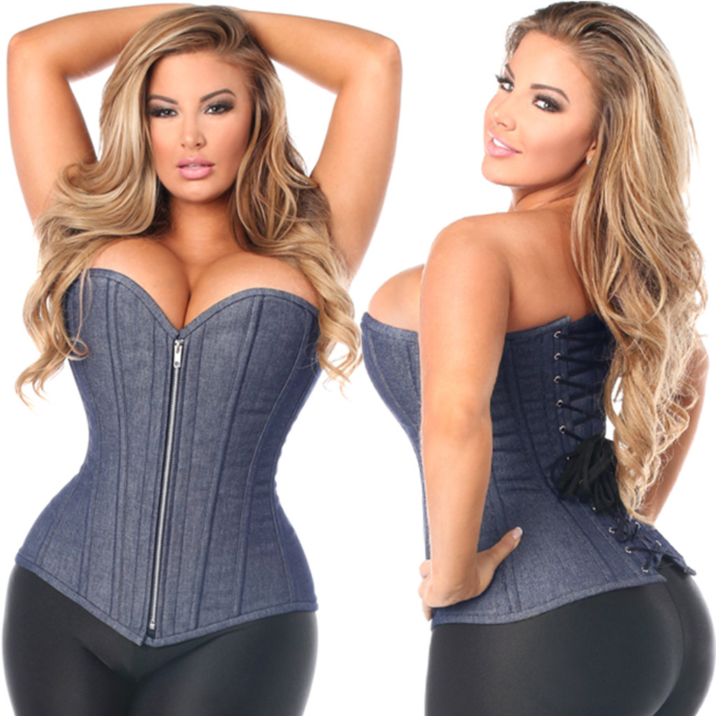 Blue Denim Corset - from Sizes Small to 6X