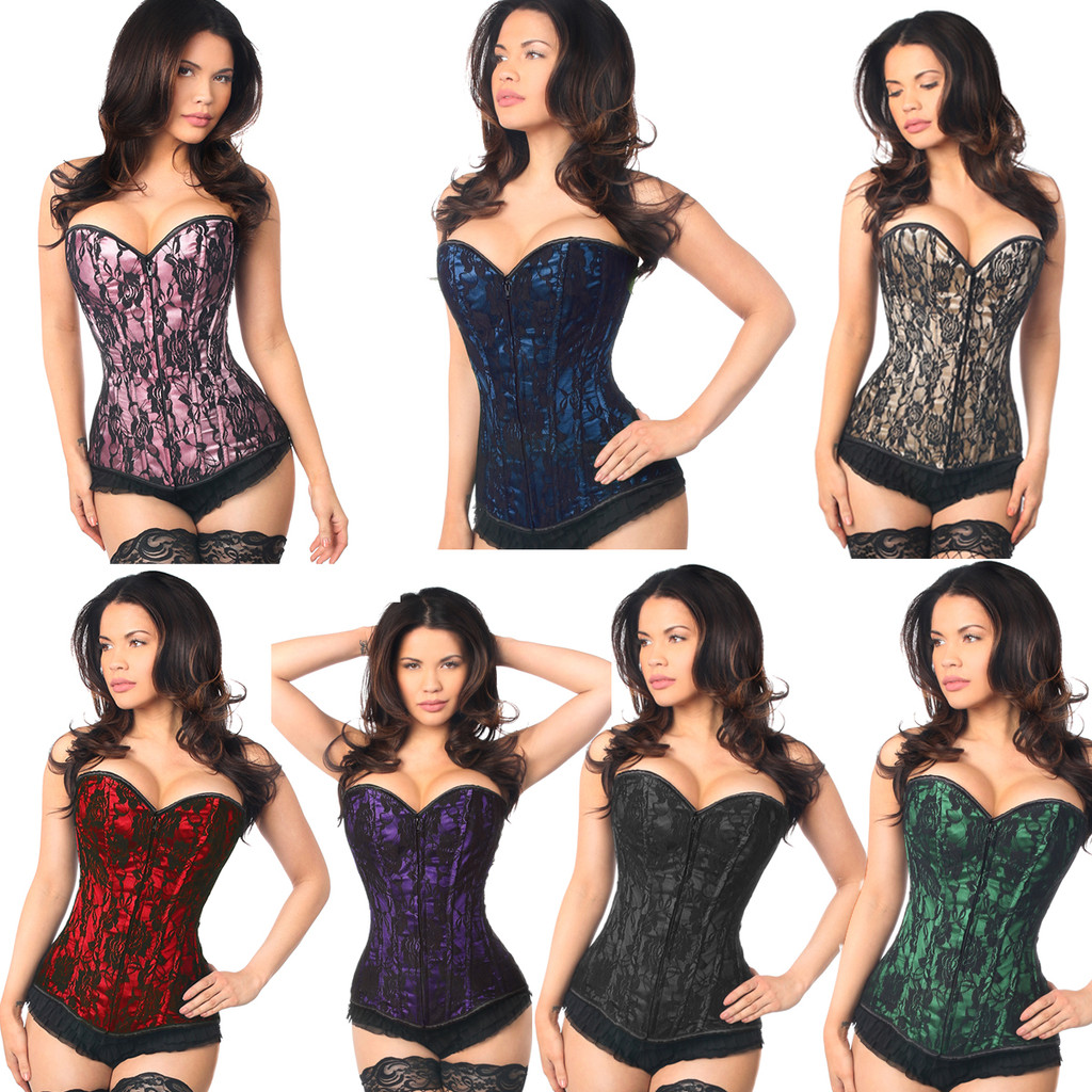 Beautiful Overbust Lace Corset in 7 Colors