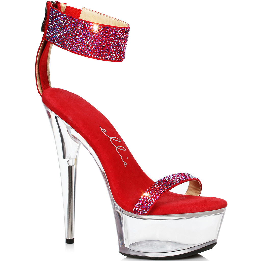 Red Hot Sandal w Rhinestones