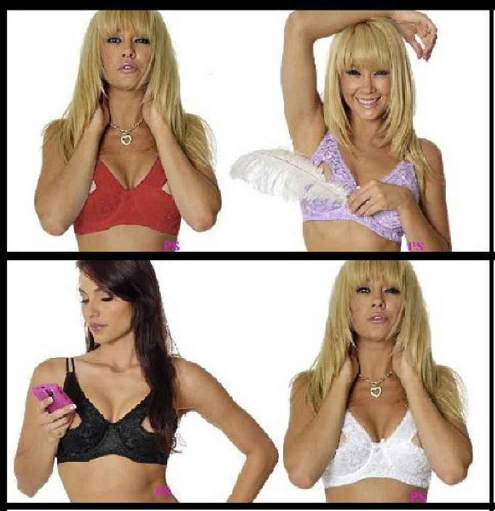 389 Lace Peek-a-Boo Bra in 4 colors