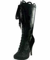 """4"""" Knee High Boot w Gris Grimly Applique"""