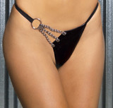 Leather G-String with Chain Detail