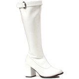 "3"" Chunky Heel Boot w Upper Strap and Buckle"