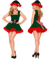 XMas Elf Dress - Front / Back -  © 2016 Roma Costumes, Inc.