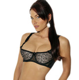 Satin w Lace Overlay Shelf Bra - 3 Colors - Band Sizes 34 - 44 & B-DD Cups