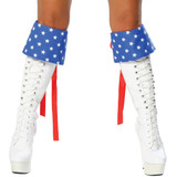 Pair of Red, White & Blue Boot Cuffs
