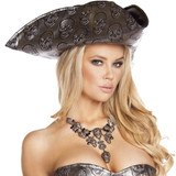 Skull Embroidered Pirate Hat -  © 2017 Roma Costumes, Inc.