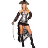 Style 4572 - Pirate Wench w Pirate Hat  -  © 2017 Roma Costumes, Inc.