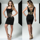 Dress w Gold Highlights