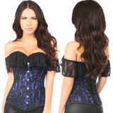 Royal Blue Corset - Front and Back
