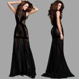 Long Dress w a Dreamy High Neck made with Venice Lace