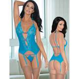 Ocean Blue Bustier, Panty and Hose