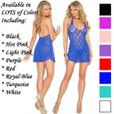 Lace Halter Top Mini Dress - Available in Lots of Sizes