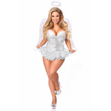 Sequin Angel Corset Dress Costume