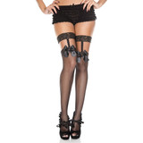 Suspender Lace w/ Bow Thigh Hi