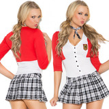 Dean's List Diva Costume - Front and Back Closeup