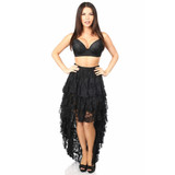 3 Layer High Low Lace Skirt