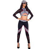 2pc Sexy Race Car Driver Costume