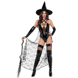 3pc Playboy Wicked Witch Costume