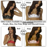 Group of Satin Bras (style # 4116) - Currently 4 Main Colors (Black, White, Pink, Red) - others may be available seasonally