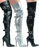 Thigh High Boot w Buckles