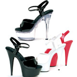 Sandal with 6 inch Pointed Stiletto Heel