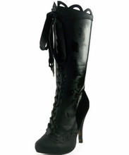 "4"" Knee High Boot w Gris Grimly Applique - Sizes 5 - 12 - CLEARANCE!"