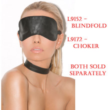 Leather Choker (L9172) Sold on this page.  The Blindfold (L9152) is sold separately