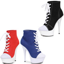 Playtime Anyone?  Cute Sneaker Ankle Boots with 6 Inch Heels!