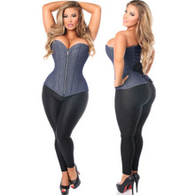 Blue Denim Corset - Great for Outerwear