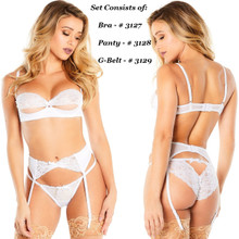 Front and Back of White-Piece Set