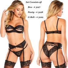 Front and Back of Black 3-Piece Set