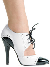 """5"""" Two Toned Pump w Laces - Sizes 5 to 14"""