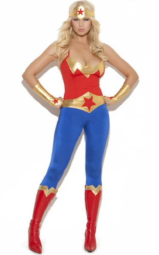 5 Piece Costume - Wonder Woman or Super Hero - Sz S - XL